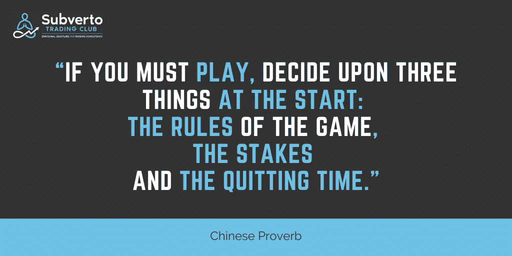if you must play decide upon three things at the start