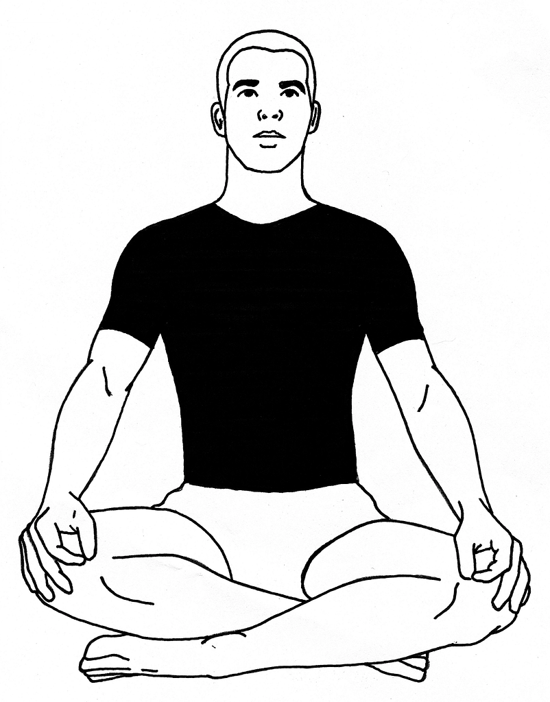 How to sit cross legged properly
